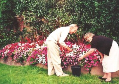 Maintaining the flower displays
